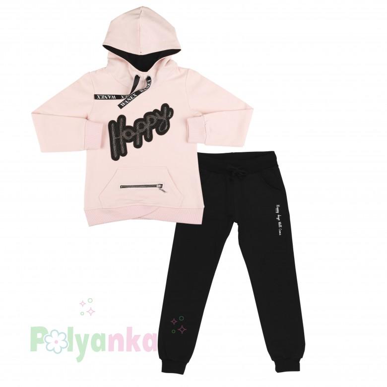 Спортивные штаны детские для девочки на манжетах серые трикотажные ... | 780x780