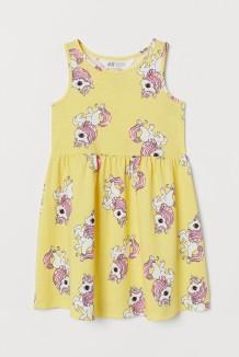 H&M Сарафан для девочки с единорогами жёлтый