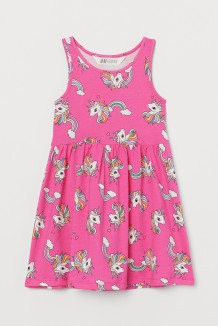 H&M Сарафан для девочки розовый с единорогами