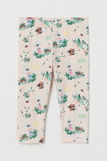 Капри для девочки бежевые с зайчиками