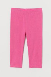 Капри для девочки розовые в горох