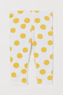 H&M Капри детские белые жёлтый горох