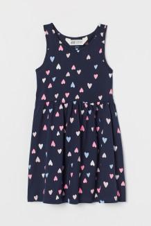 H&M Сарафан для девочки синий в сердечках