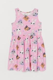 H&M Сарафан для девочки розовый со зверушками