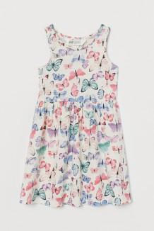 H&M Сарафан для девочки белый с бабочками