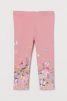 H&M Капри для девочки розовые с цветами