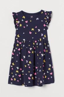 H&M Сарафан для девочки синий с бабочками