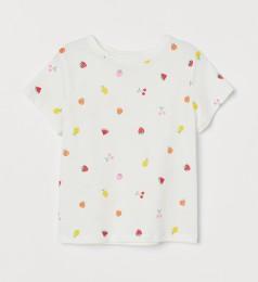 H&M Футболка для девочки белая с ягодами