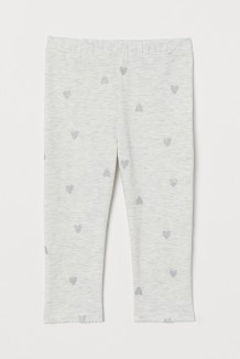H&M Капри для девочки серые в сердечки