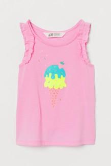 H&M Майка для девочки розовая с мороженным