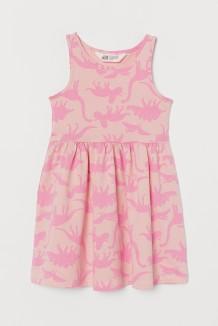 H&M Сарафан для девочки розовый с динозаврами