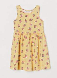 H&M Сарафан для девочки желтый с цветами