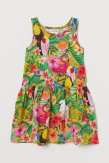 H&M Сарафан для девочки разноцветный с папугаями