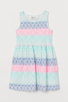 H&M Сарафан для девочки белый с узорами