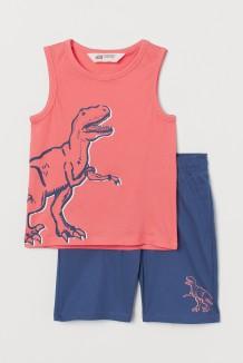 """H&M Комплект для мальчика майка с шортами """"Динозавр"""""""