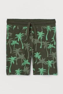 H&M Шорты детские темно зелёные с пальмами