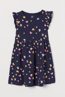 H&M Платье детское синее с бабочками
