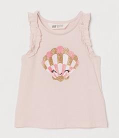 H&M Майка розовая с ракушкой