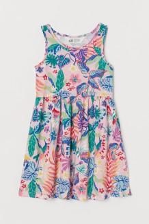 H&M Сарафан для девочки нежно розовое с растительным принтом