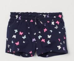 H&M Шорты для девочки синие с бабочками
