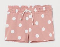 H&M Шорты для девочки в горох розовые