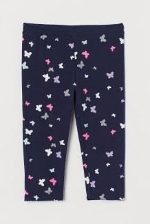H&M Капри для девочки синие с бабочками