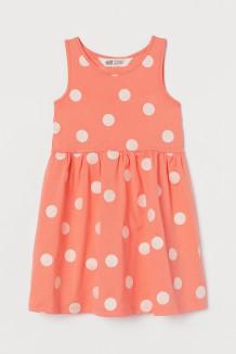 H&M Сарафан для девочки оранжевый в горох