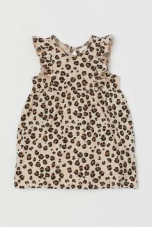 H&M Летнее платье для малышки леопардовое
