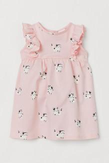 H&M Летнее платье для малышки розовое с кошечками
