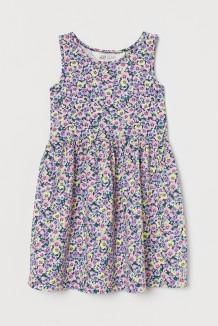 H&M Сарафан для девочки синий с цветами
