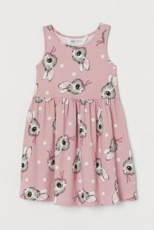H&M Сарафан для девочки розовый с зайцами