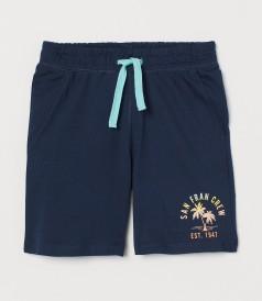 H&M Шорты для мальчика синие с пальмой