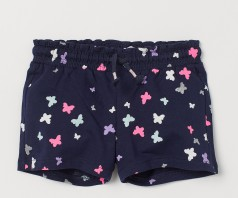 H&M Шорты детские синие с бабочками