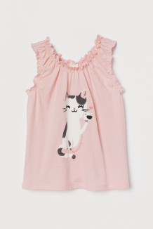 H&M Майка для девочки розовая скошкой
