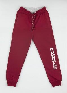 """Wanex Спортивные штаны для мальчика бордовые """"One Wax"""""""