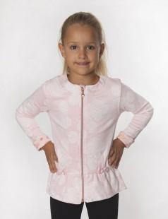 Wanex Кофта для девочки розовая с цветами