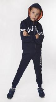 """Wanex Спортивный костюм для мальчика """"Shark"""" синий с капюшоном"""