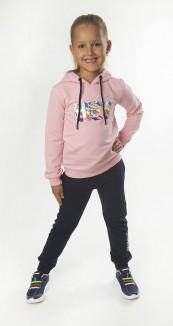 """Wanex Спортивный костюм для девочки """"Hey!"""" розовый с синим"""