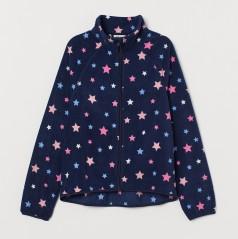 H&M Детская кофта флисовая синяя со звездами