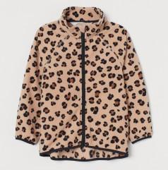 H&M Флисовая кофта для девочки леопардовая