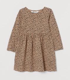 H&M Платье с длинным рукавом для девочки леопардовое