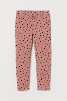 H&M Леггинсы для девочки нежно розовые в горох