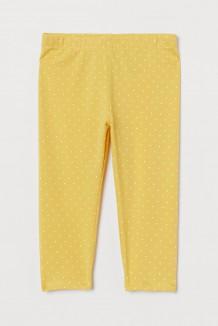 H&M Капри для девочки жёлтые в горох