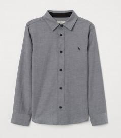 Рубашка для мальчика серая