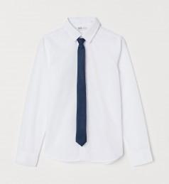 H&M Рубашка для мальчика белая с галстуком