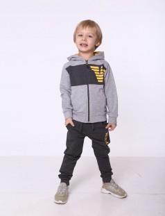 Wanex Спортивный костюм для мальчика олимпийка светло-серая и темно-серые спортивные штаны