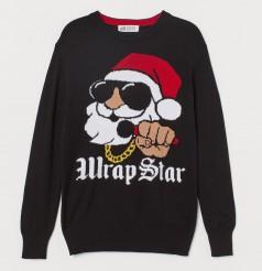 """H&M Свитер для мальчика чёрный """"Wrap Star"""""""