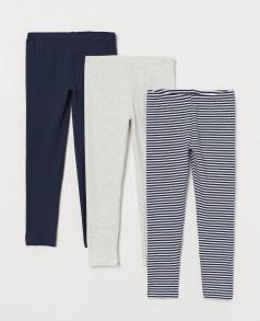 H&M Комплект лосин детских серо-синие