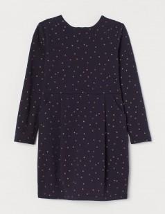 """H&M Платье детское тёмно-синее """"Звёздочки"""""""