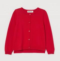 H&M Кофта для девочки красная на пуговицах